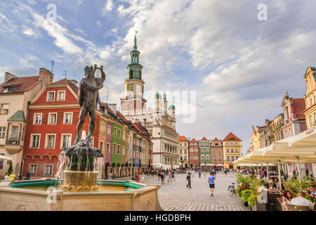 Old Town Square in Poznan City - Stock Photo