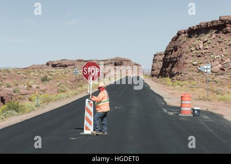 USA, Arizona, Navajo Indian Reservation, Kayenta - Stock Photo