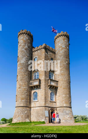 England, Worcestershire, Cotswolds, Broadway, Broadway Tower - Stock Photo