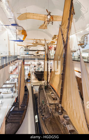 Germany, Bavaria, Munich, Deutsches Museum, Interior View - Stock Photo