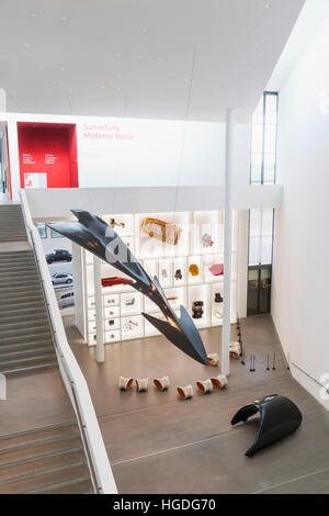 Germany, Bavaria, Munich, The Pinakothek Museum of Modern Art (Pinakothek der Moderne), Interior View - Stock Photo