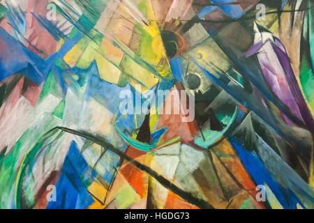 Germany, Bavaria, Munich, The Pinakothek Museum of Modern Art (Pinakothek der Moderne), Painting titled 'Tirol' - Stock Photo