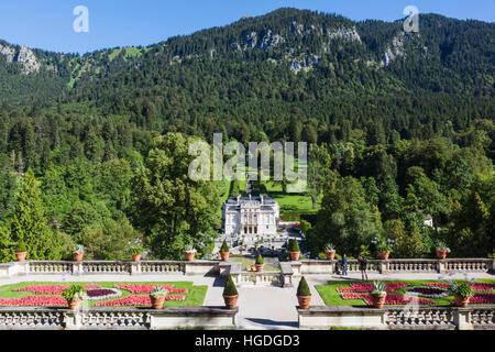 Germany, Bavaria, Linderhof Palace (Schloss Linderhof) - Stock Photo