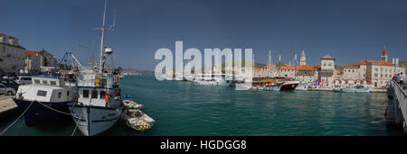 Old Town and harbour of Trogir, - Stock Photo