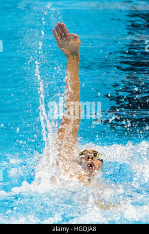 Rio de Janeiro, Brazil. 10 August 2016. Michael Phelps (USA) competing in the men's 200m individual medley heat - Stock Photo