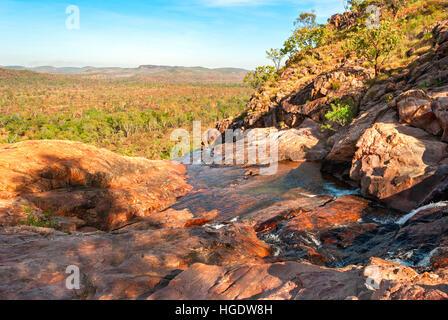 Kakadu National Park (Northern Territory Australia) landscape near Gunlom lookout - Stock Photo