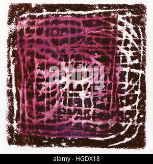 Abstract acrylic background originally produced as a monoprint on paper texture - Stock Photo