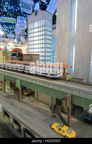 Annual Holiday Toy Train Display, Transit Museum, Grand Central Terminal, NYC - Stock Photo