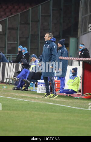 Napoli, Italy. 07th Jan, 2017. Soccer match between SSC Napoli and Sampdoria at San Paolo Stadium in Napoli .final - Stock Photo