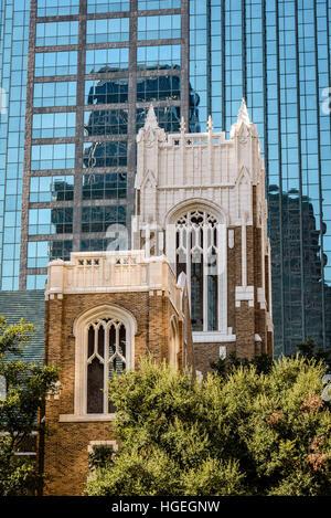 First United Methodist Church, 1928 Ross Ave, Dallas, Texas - Stock Photo