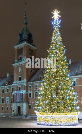 Christmas illumination of royal castle in the old town of for 26 january decoration