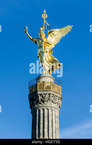 Victory Column, Siegessäule. Monument by Heinrich Strack to commemorate victory in the Danish-Prussian War. Großer - Stock Photo
