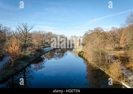 Landwehr Canal, Landwehrkanal. Berlin, Germany.