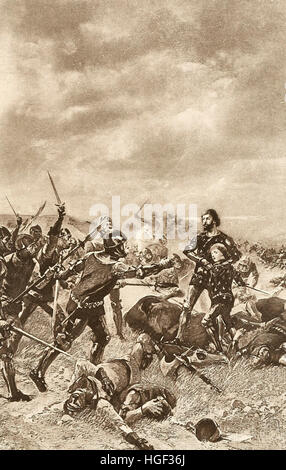 The Battle of Poitiers was a major battle of the Hundred Years' War between England and France. The battle occurred - Stock Photo