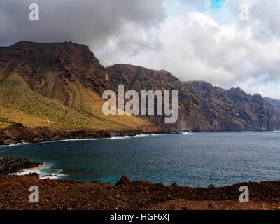 Cliffs of Punta de Teno on Tenerife - Stock Photo