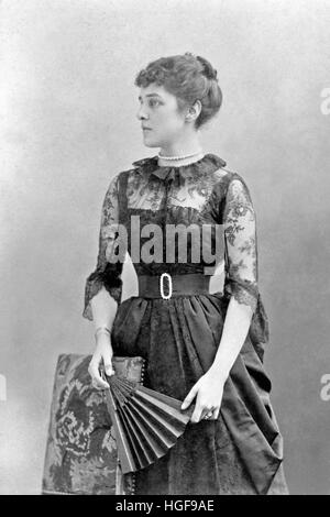 Jennie Jerome wife of Lord Randolph Churchill and mother of Winston Churchill - Stock Photo
