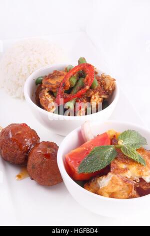 Mix of Thai foods - Stock Photo