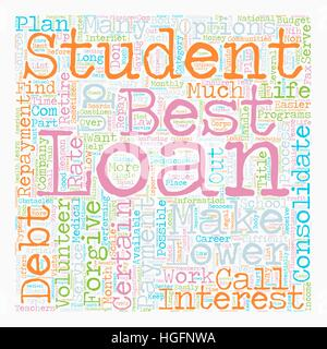 Why Consolidate Student Loans text background wordcloud concept - Stock Photo