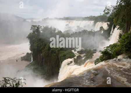 Iguazu Falls, Iguazu National Park, Misiones Province, The Northeast, Argentina, South America Stock Photo