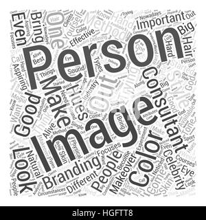 what makes a good image consultant Word Cloud Concept - Stock Photo