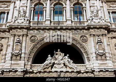 Italian Supreme Court of Cassation (Corte di Cassazione), Palace of Justice, Courthouse. Renaissance, baroque style. - Stock Photo