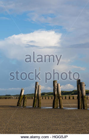 former ostanleger, wangerooge, friesland district, lower saxony, north sea, germany, june 2016 - Stock Photo