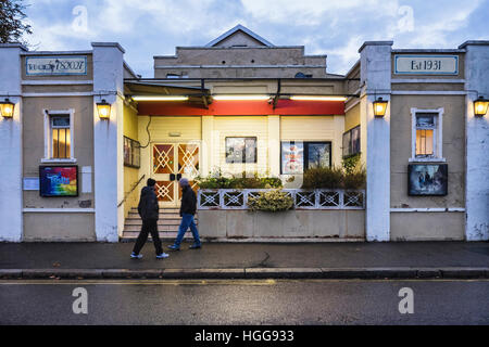 Burnham on Crouch, Essex, England. Cinema in typical old English building on the Village High Street. - Stock Photo