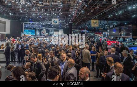 Detroit, USA. 9th Jan, 2017. The crowd is huge at the North American International Auto Show 2017 in Detroit, MI. - Stock Photo