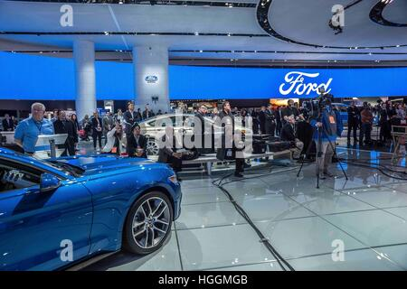 Detroit, USA. 9th Jan, 2017. FORD dazzles at the North American International Auto Show 2017 in Detroit, MI. © via - Stock Photo