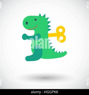 Dinosaurus toy icon. Flat vector related icon for web and mobile applications. It can be used as - logo, pictogram, - Stock Photo