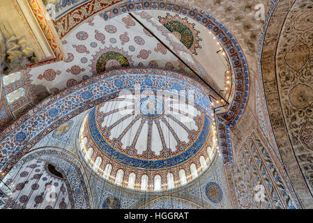 The Sultan Ahmed Mosque or Sultan Ahmet Mosque  is a historic mosque in Istanbul, Turkey. The mosque is popularly - Stock Photo