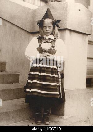 Portrait of Girl from Rättvik, province of Dalarna, Sweden - Ellis Island Immigration Station 1902-1913 - Photo - Stock Photo