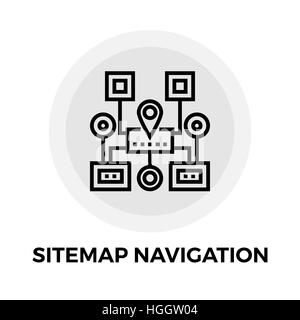 Sitemap Navigation icon vector. Flat icon isolated on the white background. Editable EPS file. Vector illustration. - Stock Photo
