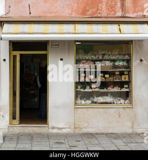 Shop front in Burano, Venice, Italy - Stock Photo