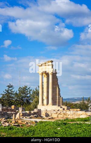 Ruins of the Sanctuary of Apollo Hylates, Cyprus - Stock Photo