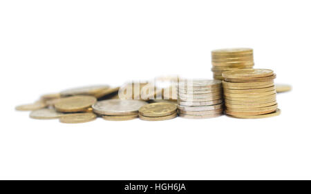 Money isolated on white background - Stock Photo