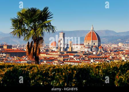 Florence, cattedrale di Santa Maria del Fiore in Tuscany, Italy - Stock Photo