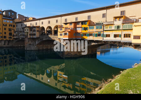 Florence ponte Veccio in Tuscany - Stock Photo