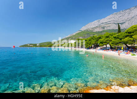Beach in Tucepi, Makarska Riviera - Stock Photo