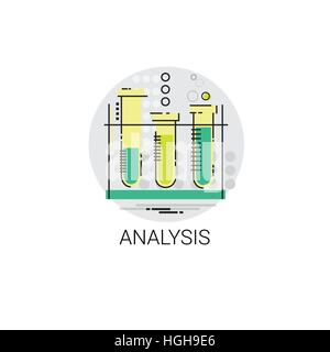 Flask Chemistry Reaction Analysis Experiment Icon - Stock Photo