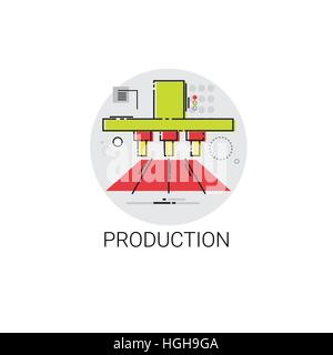 Industry Production Technology Automation Icon - Stock Photo