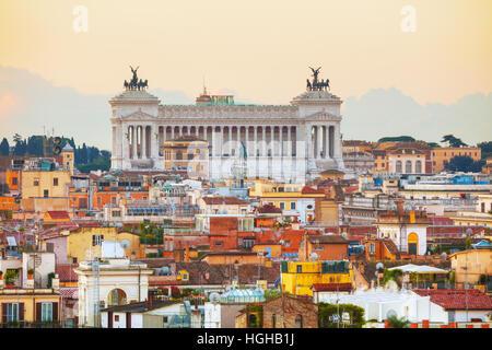 Altare Della Patria monument in Rome, Italy - Stock Photo