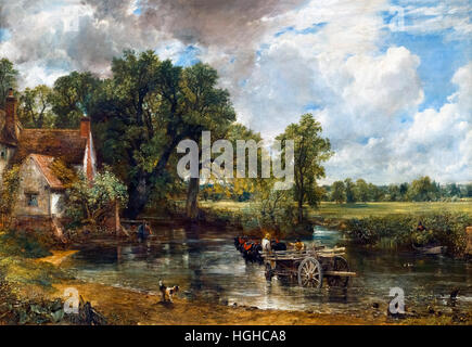 The Hay Wain by John Constable, oil on canvas, 1821 - Stock Photo