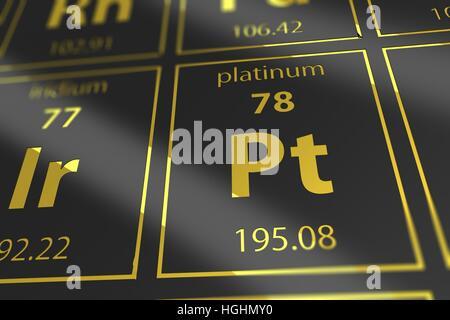 Platinum Chemical Element Stock Photo 56150998 Alamy