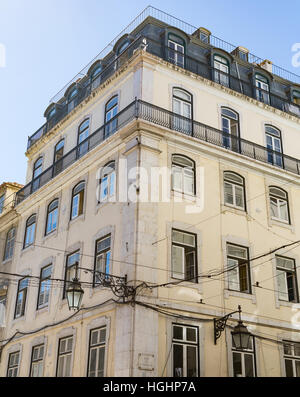 Old Apartment Building In Lisbon Portugal   Stock Photo