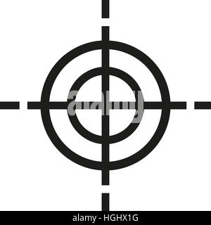 Crosshair target symbol Stock Photo, Royalty Free Image: 130700700 ...