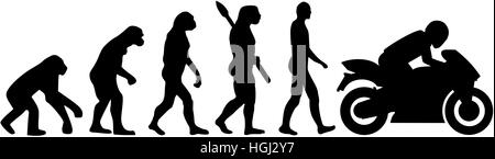 Motorbike evolution - Stock Photo