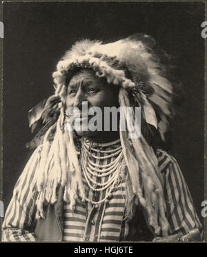 White Swan, Crow   - 1898 Indian Congress - Photo : Frank A. Rinehart - Stock Photo