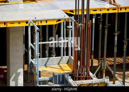 construction steel reinforcement - Stock Photo