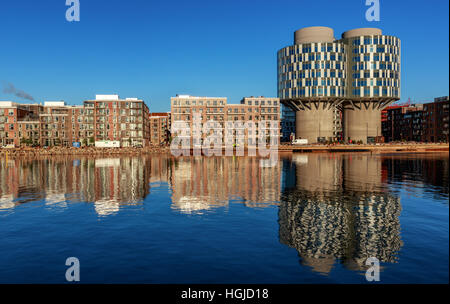 The exciting new attractive residential and office block quarter in Nordhavn, the north harbour in Copenhagen. Portland - Stock Photo